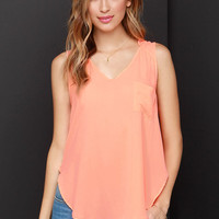 Hot, Hot, Heat Neon Coral Top