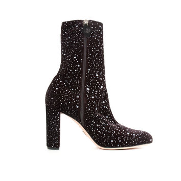 Black Velvet Speckled Boots
