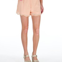 Blu Pepper Scalloped Hem Short