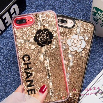 CHANEL Quicksand glitter phone case shell  for iphone 6/6s,iphone 6p/ 6splus,iphone 7, iphone7plus
