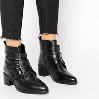 ASOS | ASOS ROUNDABOUT Wide Fit Leather Ankle Boots at ASOS