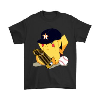 AUGUAU Pikachu Baseball Champion 2017 Houston Astros World Series Shirts
