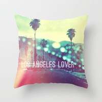 LA Lover Throw Pillow by Anna Andretta | Society6