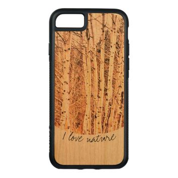 nature art Aspen trees on wood case