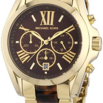 Michael Kors Women's Bradshaw Gold Bracelet Brown Dial Watch MK5696