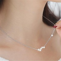 Womens Stars Pendant Necklace +Gift Box