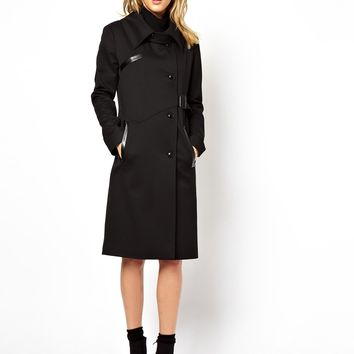ASOS Longline Coat With Wrap Front