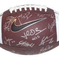 2015 Oregon Ducks Team Autographed Nike Official Football w/ 37 Sigs Total! Proof Photos
