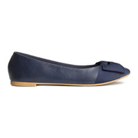 H&M - Ballet Flats - Dark blue - Ladies