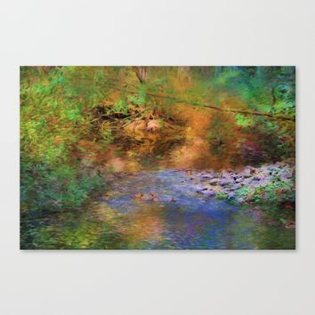 Fantasy Lake Stream Canvas Print by Theresa Campbell D'August Art