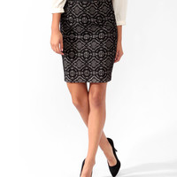 Satin Waist Lace Skirt