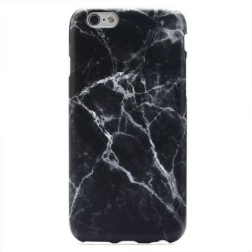 CREYRQ5 GOLINK iPhone 6/6s Case IMD Printing Slim-Fit Ultra-Thin Anti-Scratch Shock Proof Dust Proof Anti-Finger Print TPU Case for iPhone 6/iPhone 6S(4.7 inch Display) - Black Marble III