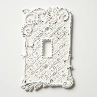 Tin Roof Switchplates, Single by Anthropologie White Single Hardware