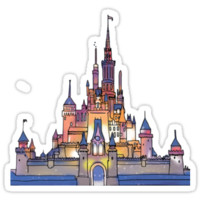 'Watercolor Castle' Sticker by shannonfraney