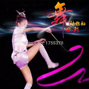 9 Colors Dance Ribbon Gym Rhythmic Gymnastics Art Ballet Streamer Twirling Rod Outdoor Sport Games Kids Children Adult Toys
