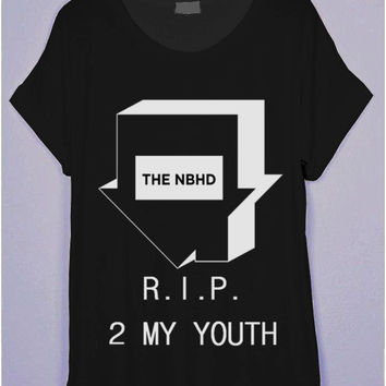 The NBHD R.I.P. 2 My Youth Black T-Shirt | CrewWear