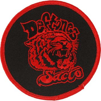 Deftones Men's Sacto Embroidered Patch Red