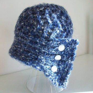 Instant Download Easy Vintage Knit Hat Madame Coco Cloche Flapper 1920's Hat