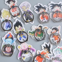Koteta Anime Dragon Ball Z Son Guku Model Figure 360 Degree Metal Finger Ring Mobile Phone Smartphone Stand Holder for iphone