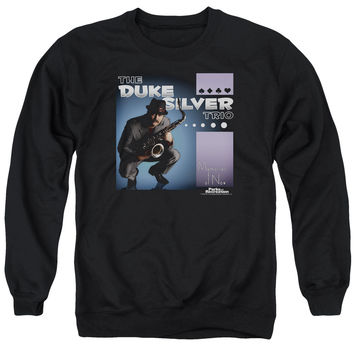 PARKS & REC/ALBUM COVER - ADULT CREWNECK SWEATSHIRT - BLACK -