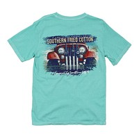 Jeepin' On the Coast Tee in Mason Jar by Southern Fried Cotton - FINAL SALE