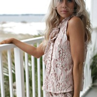 Monica Pier Mauve Lace Set