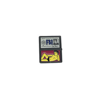 FBI Mulder, Enamel Pin // lapel pins, simpsons, simpsons pin, x-files, fox mulder // EP051