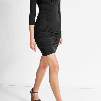 Cotton Dress with Lace-Up Front - Velvet | WOMEN | US STYLEBOP.COM