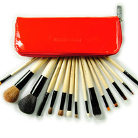 Hot Sale 5-pcs 15-pcs Red Make-up Brush Set = 4831027524