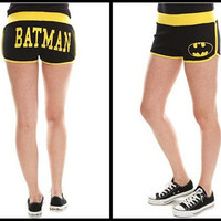 Bioworld Juniors Girls DC Comics Booty Shorts - Large - Batman