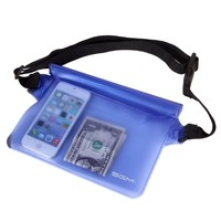 SGM (TM) Waterproof Pouch with Waist Strap for Beach/fishing/hiking - Protects Phones, Camera, Cash, Documents From Water, Sand, Dust and Dirt