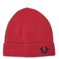 True Religion Cashmere Blend Ribbed Watchcap - Cherry