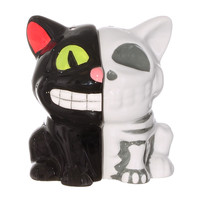 Creepy Cat Anatomy Salt Shakers