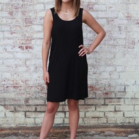Piko Tank Dress-Black