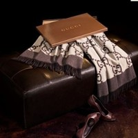 Gucci Luxury Throw Blanket - Brown