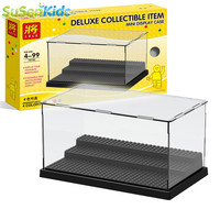 Building Block Display For Star Wars The Force Awakens Super Heroes Minifigures Acrylic Box Showcase Ladder Cabinets Toys