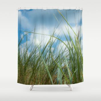 Dreaming in the grass Shower Curtain by Tanja Riedel