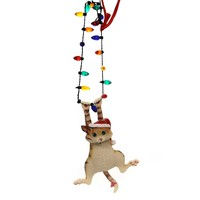 Holiday Ornaments CAT ON HANGING LIGHTS Polyresin Gary Patterson 6000459