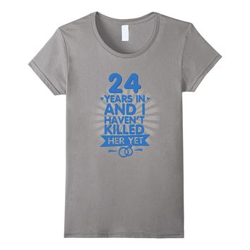 24 Years of Marriage Shirt 24th Anniversary Gift for Husband