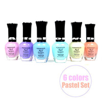 Kleancolor Nail Polish PASTEL Colors Lot of 6! Lacquer