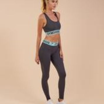 Gymshark Fit Leggings - Charcoal/Pale Turquoise
