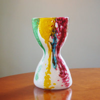 Dino Martens Pittorico Vase, Aureliano Toso Vase, Pulegoso Glass Vase, Murano Glass, Abstract Modernist Italian Art Glass Vase