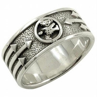 Grateful Dead - Bear & Arrows Sterling Silver Ring