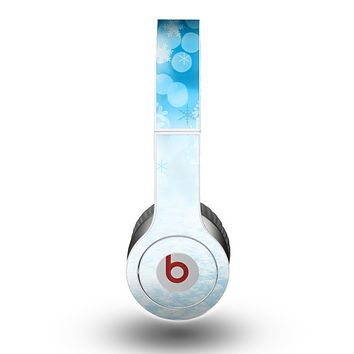 The Winter Blue Abstract Unfocused Skin for the Beats by Dre Original Solo-Solo HD Headphones