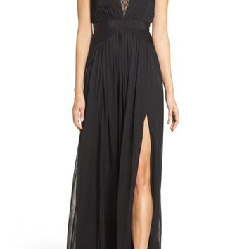 Adrianna Papell Tulle & Lace Gown | Nordstrom