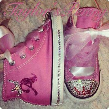 QIYIF girl s bling converse for a princess w satin tulle