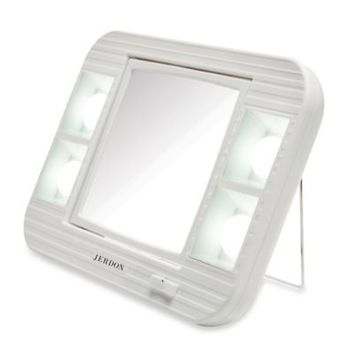 jerdon 5x 1x led lighted makeup mirror in from bed bath beyond. Black Bedroom Furniture Sets. Home Design Ideas