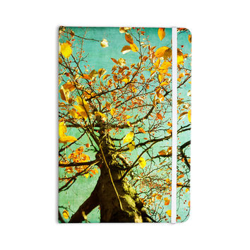"Sylvia Coomes ""Autumn Tree"" Teal Yellow Everything Notebook"