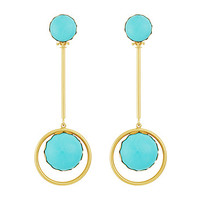 Tory Burch Linear Stone Statement Earrings