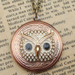 Steampunk Owl 51703 Locket Necklace Vintage Style by sallydesign